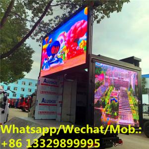 China High quality customized Mobile LED advertising screen for sale, 3 sides full color Mobile LED screen mounted on truck on sale