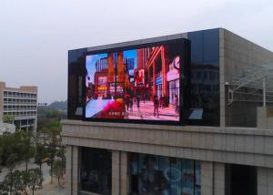 China Commercial Giant Led Screen Outdoor Advertising , Outdoor Digital Message Board 10mm Real Pixels on sale