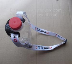 China PVC bottle holder lanyard with adjustable ribbon, sporting bottle holder strap lanyard, on sale