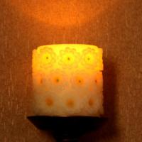 Daisy carved LED candle,Battery operated led candle,LED Candle,LED Candles,