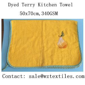 China wholesale china 100% cotton printed kitchen tea towel on sale
