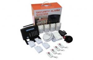 China GSM Home Wireless Burglar Alarm System , Alarm Auto-dial and 24 Wireless Zones Systems on sale