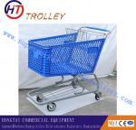 Прочные сверхмощные пластиковые тележки вагонеток покупок супермаркета с 4 колесами