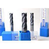 China 注文の TiAlN の上塗を施してある標準的な固体炭化物のエンド ミルのカッター、大体の形になるエンド ミル HRC55 on sale