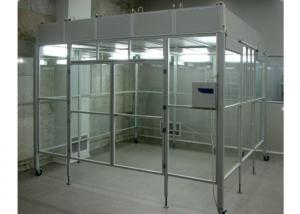 China Aluminum Positive Pressure Soft Wall Clean Room Vertical Laminar Flow Booth on sale