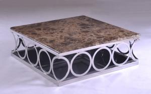 China Classic Marble Modern Square Coffee Tables and Tea Tables with Rings Leg on sale