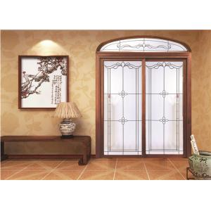 China EU House Sliding Glass Door Wood Grain / Orange Peel / Flush Surface on sale