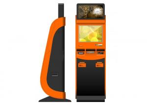 China Barcode Scanner Ticketing Dual Screen Kiosk Automated Waterproof on sale