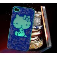 PC Flashing iPhone cases with lovely hello kitty flash light