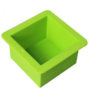China Nicole green square silicone rubber toast molds cake baking molds cake tools on sale