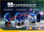 China Smoke Effect Shopping Mall 9D Virtual Reality Cinema 3 Seats 360 Degree Rotation wholesale