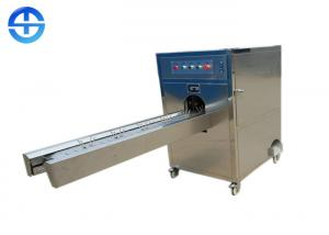 China 600kg/h Stainless Steel Onion Root Cutting Machine Cut Onion Head / Tail on sale