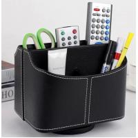 China 360 degree Leather Spinning TV Remote Control Holder box on sale