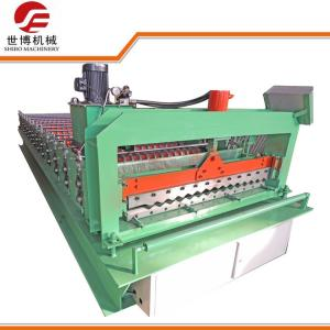 China Prepainted Galvanized Iron Roofing Sheet Corrugated Panel Roll Forming Machines 988 on sale