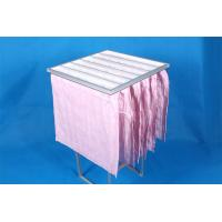 High Efficiency F7 Pocket Air Filter Pink Dust Collector Filter Bags Without Clapboard