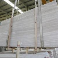 Natural white wooden marble cut to size Chinese white serpeggiante veins tiles slabs white wooden marble
