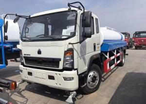 China 8CBM Water Bowser Truck , 4 X 2 HOWO Water Tank Truck For Warm Water Delivery on sale