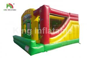 China Customized Doll House Red Inflatable Jumping Castle With Slide For Party on sale