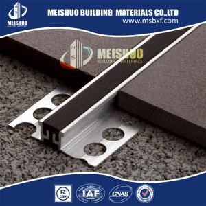 China construction metal material aluminum rubber tile ceramic movement joint on sale