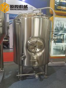 China Bright Beer Brewery Fermentation Tanks , 1000l Beer Stainless Steel Tank on sale