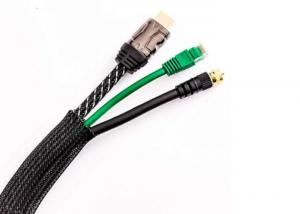 China PC Cable Harness PET Expandable Braided Sleeving Flame Resistant Long Lasting Stability on sale