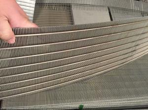 China Liquid Filter Wedge Wire Screen Panels For Mining / Oil Field Screening Filtration on sale