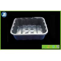 Silver / Grey Plastic Food Packaging Trays Customized With SGS / QC