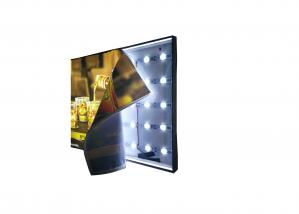 China Single Side Frameless Fabric Led Display Light Box 6.5 Cm Width With Black Frame on sale