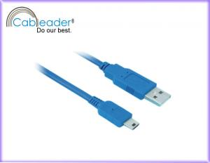 China 24K gold plated USB 2.0 Cables USB A Male to USB Mini 5 pin cable on sale