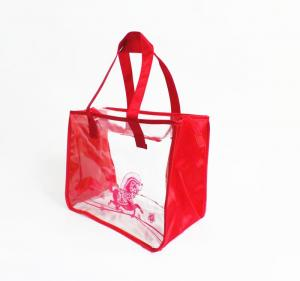 China promotional red pvc bag clear pvc cosmetic bag travel toiletry bag on sale