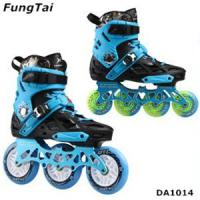 China Mens Inline Skate Shoes Women 4 Wheels Roller Patins Adults Blades 2 in 1 Skating Shoes 110mm Wheels Blue Color (DA1014) on sale