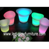 China Different size Waterproof lighting LED Flower Pots Rechargeable Plant Containers OEM on sale