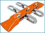 High Capacity Hardened Steel Chain  Mining Supply Chain For Conveyors / Haulage Systems