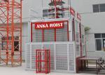 Double Cage 1.5 Ton Construction Hoist Elevator SC150 / 150GD 3 Phase Power Source