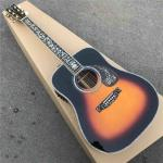 Custom Sunbrust Solid spruce top Tree Abalone inlays 41 inch D style acoustic guitar
