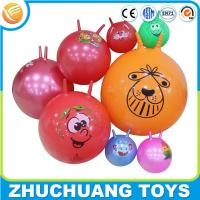 China wholesale personalized bulk cheap custom printed bouncy balls with handle on sale
