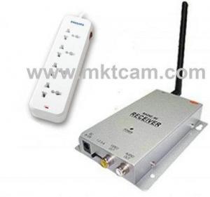 China MKTCAM Mini Hidden Wireless 2.4GHZ CCD Hidden Socket camera with remote control MKT-WSDVR01 on sale