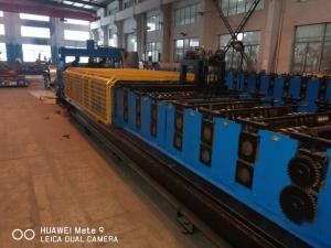 China PLC System Steel Silo Corrugated Side Panel Roll Forming Machine on sale