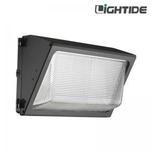 China DLC Qualified Outdoor 40W LED Wall Packs Lights-Glass Refractor, 120 LPW on sale