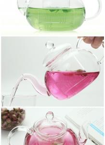 China 600ml Chinese Small Clear Glass Teapot With Strainer , Lightweight on sale