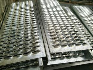 China Crocodile Mouth Hole Shaped Perforated Anti Skid Steel Plate For Floor / Stairs on sale