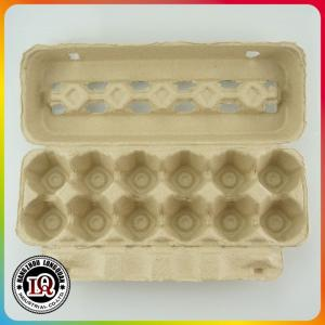 China Post Consumer Molded 12 Up Pulp Disposable Paper Egg Trays on sale