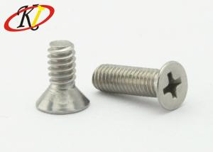 China Flat Point Steel Machine Screws Stainless Steel Phillips Drive With Csk Head on sale