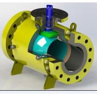 Stellite Coating Pipeline Ball Valve , Flange Weld Connection Split Body Ball Valve