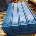 fast assembly 0.376mm blue corrugated roof sheets use as bounding wall