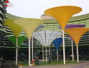 China Waterproof Outdoor Tensile Membrane Structures For Exhibition Center on sale