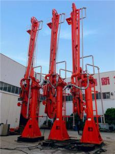 China Electric-hydraulically powered marine loading arms Double pipelines transit LPG ammonia dangerous media on sale