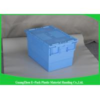 Commercial Distribution Plastic Attached Lid Containers For Transportation And Logistics
