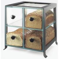 Black Frame Acrylic Bakery Display Case With Four Compartment