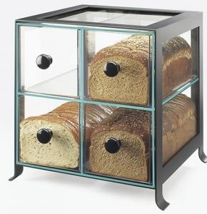 China Black Frame Acrylic Bakery Display Case With Four Compartment on sale